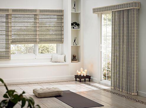 Large Windows Living Room Blinds
