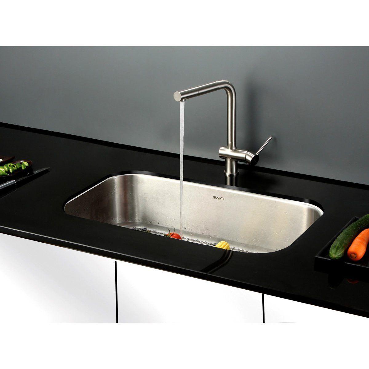Ruvati Rvm4200 Undermount 16 Gauge 32 Kitchen Sink Single Bowl Stainless Steel Undermount Kitchen Sinks Single Bowl Kitchen Sink Sink
