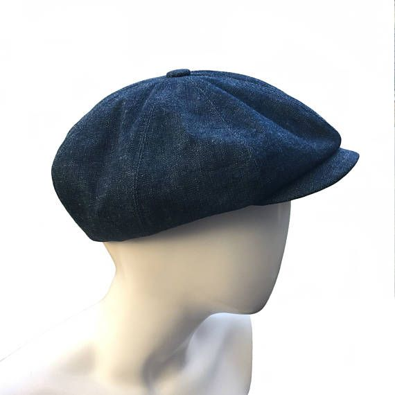 a0b2ab92 READY To SHIP Sale Denim Peaky Blinders Bakerboy Paperboy Newsboy Selvedge Cap  Hat Retro Vintage Gatsby Harris Tweed Bespoke S M L XL Sample