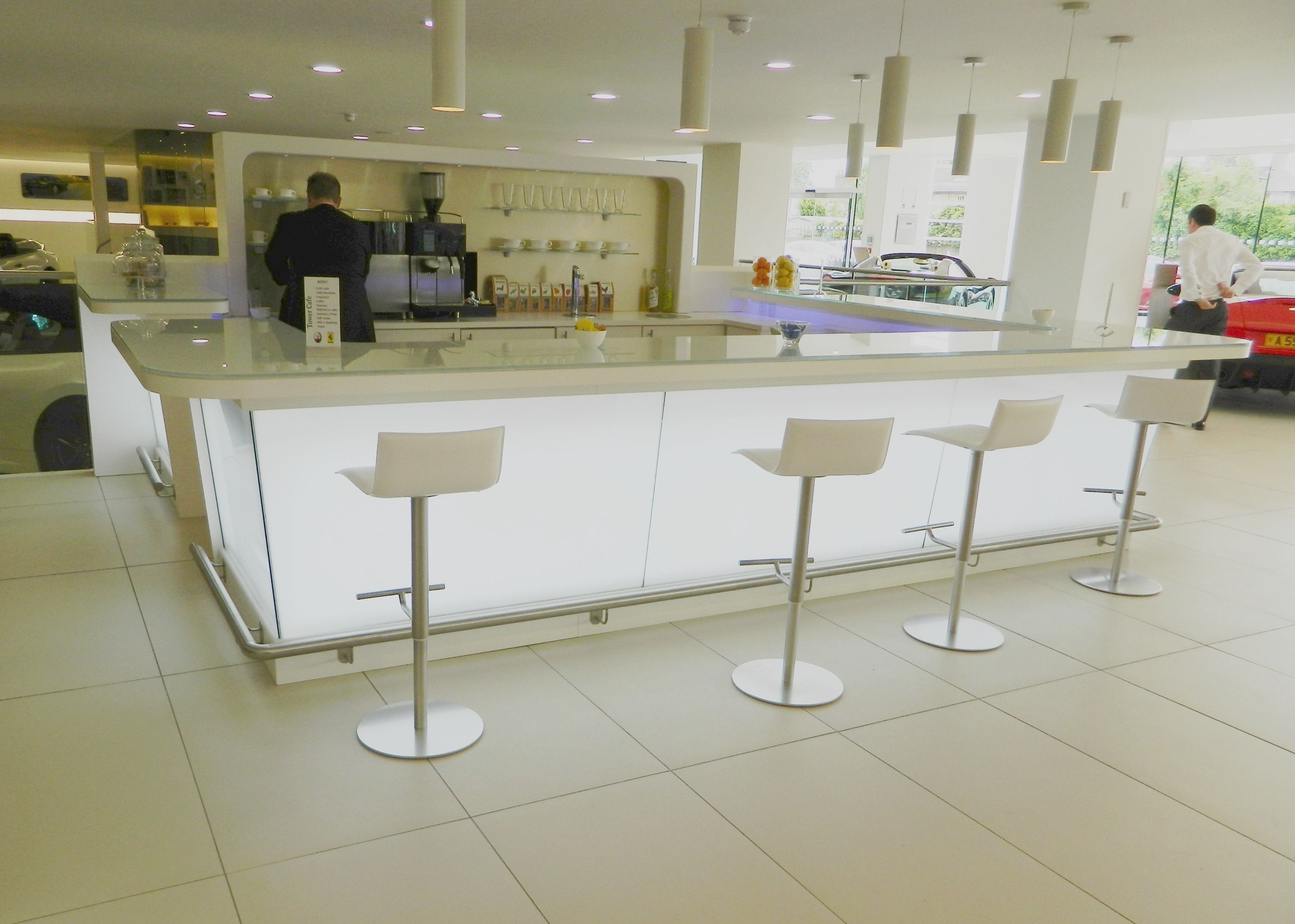 office kitchens. open plan office kitchen with stylish backlit units kitchens o