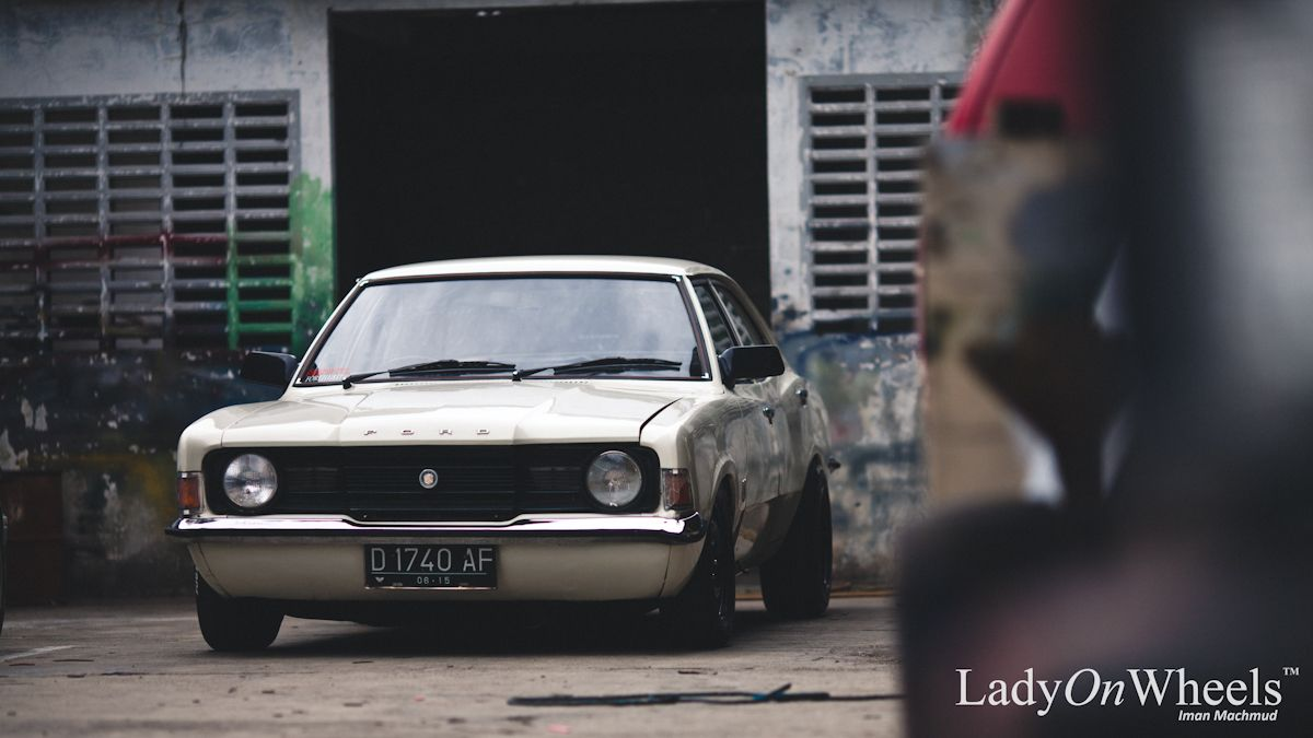 Ladyonwheels Tepay Ford Cortina Slammed Muscle Car Jpg