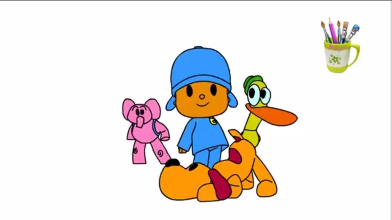 How to draw and color of POCOYO - Coloring Pages For Kids | How to ...