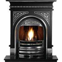 Celtic Cast Iron Fireplace With Flueless Magiflame Alchemy Bioethanol Fire Flueless Bioethanol Fir Cast Iron Fireplace Victorian Fireplace Fireplace Inserts