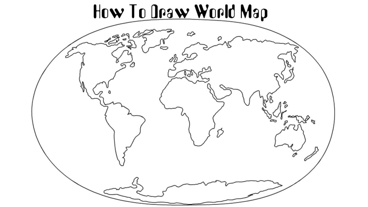 How To Draw World Map How To Draw World Map