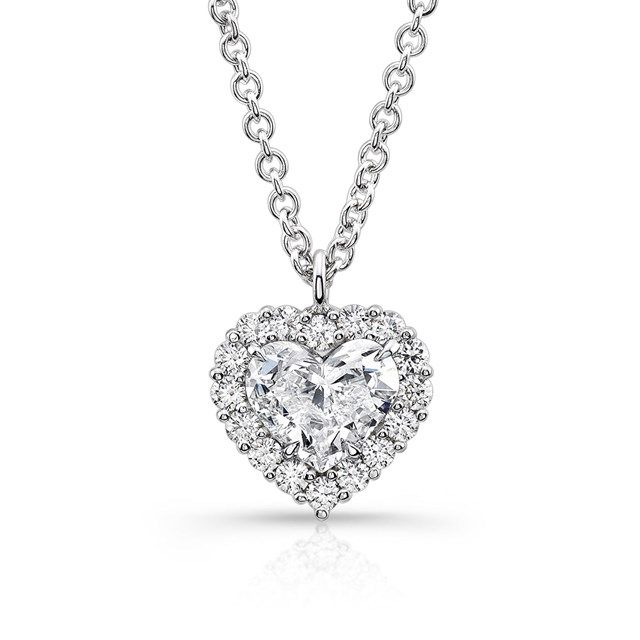 Angara Rabbit Ear Shaped Pear Aquamarine Diamond Pendant in Platinum sMq5mL8Zb