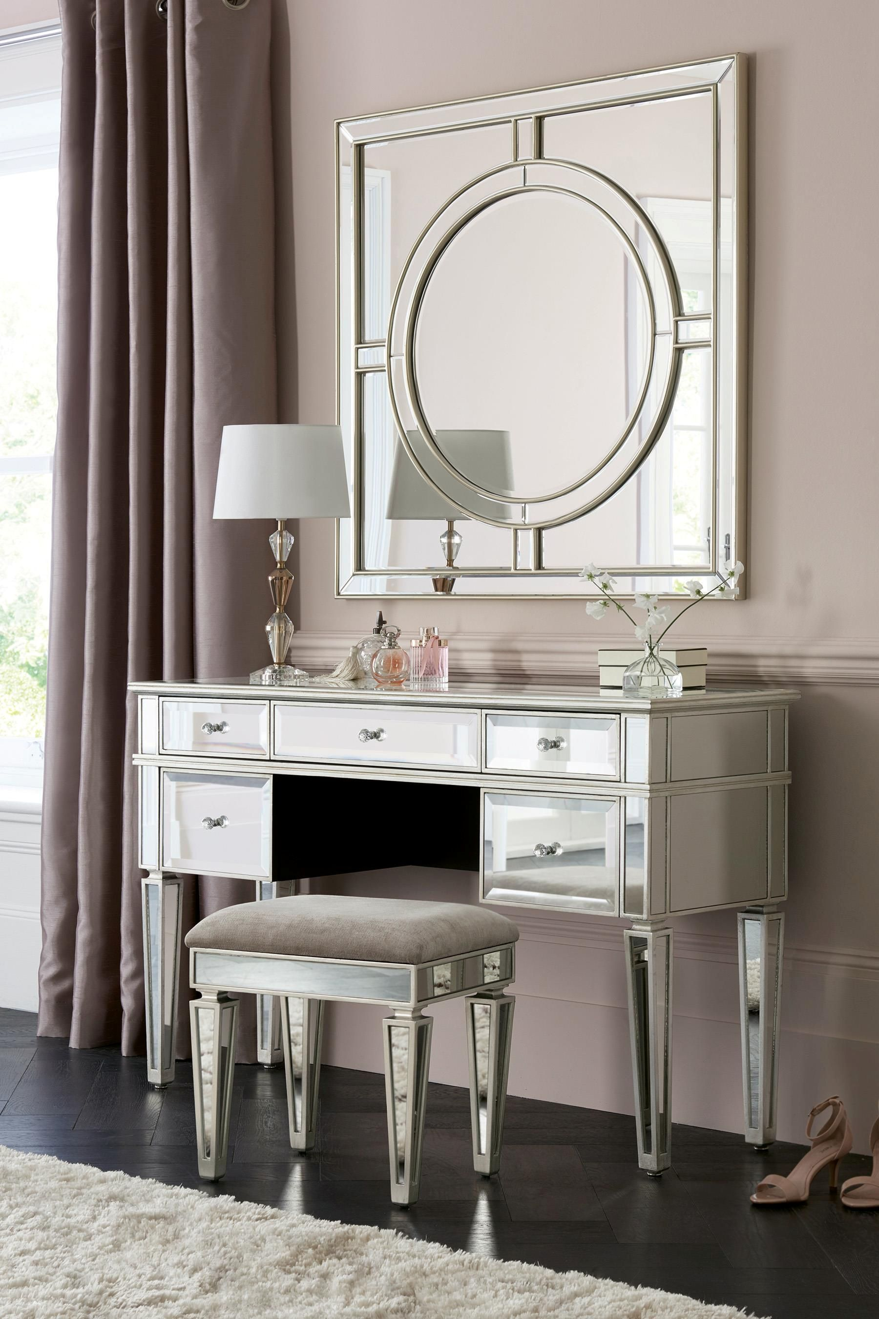 Buy Fleur Dressing Table From The Next Uk Online Shop Mirrored Bedroom Furniture Mirrored Furniture Dressing Table Design
