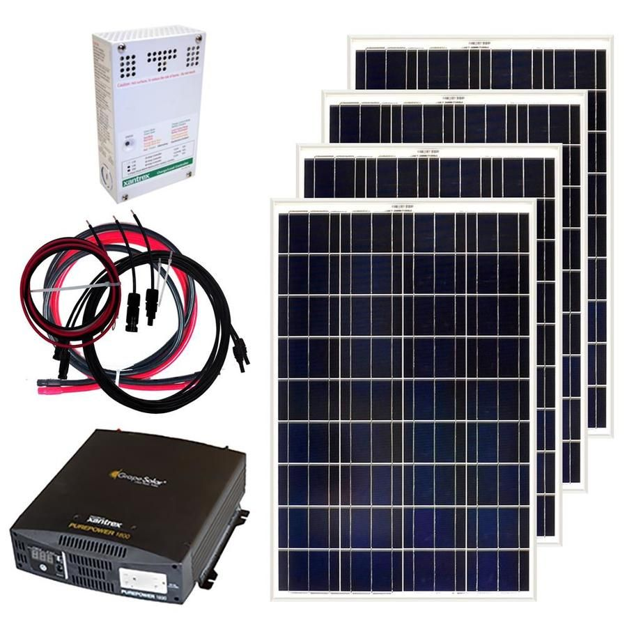 Grape Solar 0 4 Kw Off Grid Solar Electric Power Kit Lowes Com Off Grid Solar Solar Panel Kits Off Grid Solar Panels