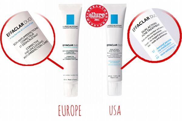 Know The Difference La Roche Posay Effaclar Duo Europe Vs Us La Roche Posay Effaclar Peroxide Uses La Roche Posay