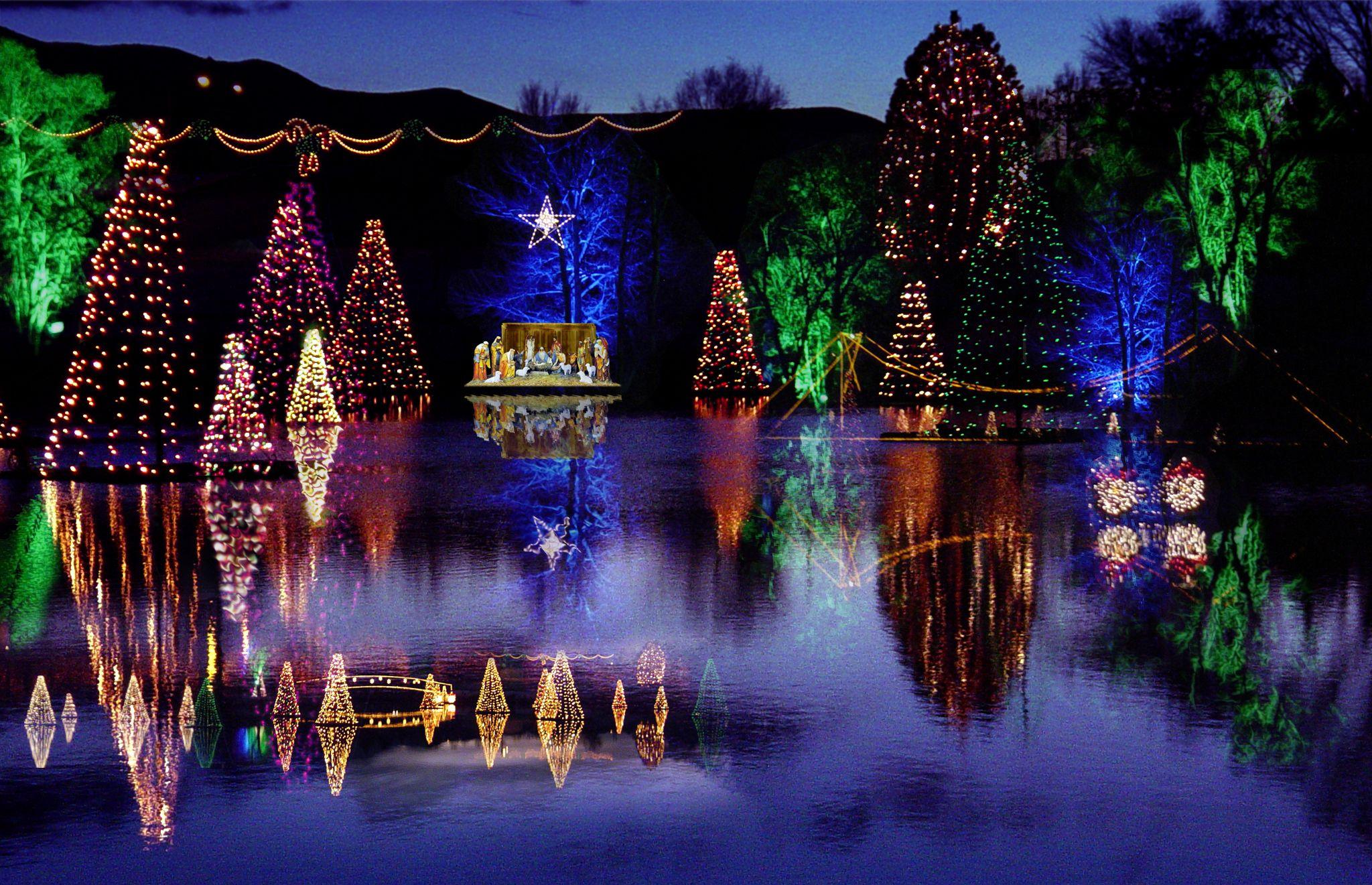 Salem Pond Holiday Lights Christmas Tree Ornaments Marina Bay Sands