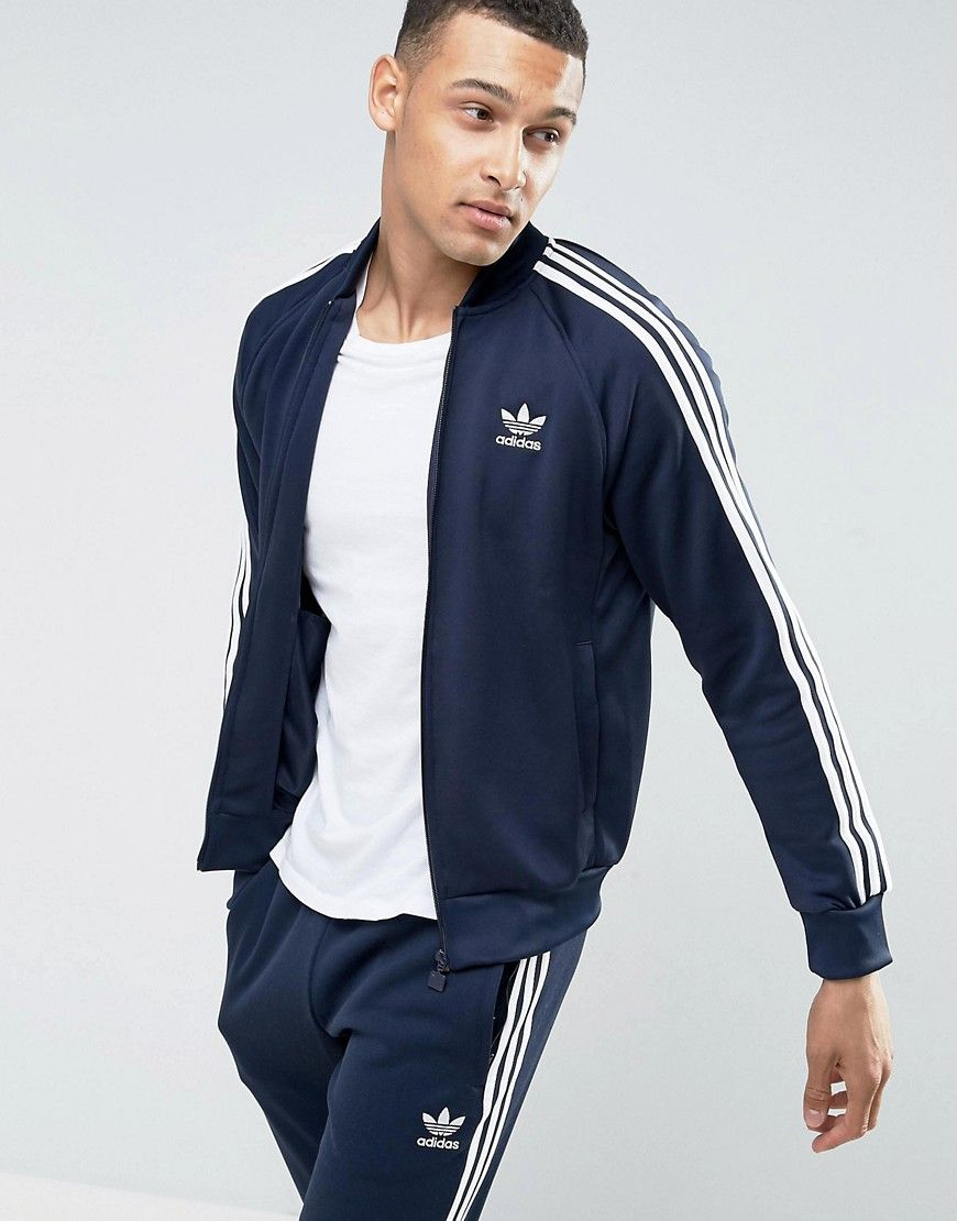 entire collection how to buy details for ADIDAS ORIGINALS SUPERSTAR TRACK JACKET IN BLUE BK5919 ...