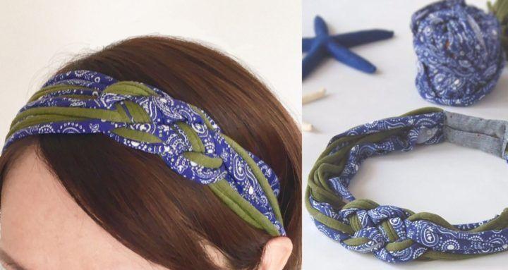 Tシャツヤーンの余り糸で 夏にぴったりな 編み込みヘアバンド の作り方 Tシャツヤーン ヘアバンド ハンドメイド ヘアバンド 作り方 Tシャツヤーン