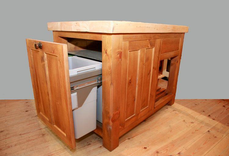 Kitchen Island Inspiration. Slide Out Trash Bin.
