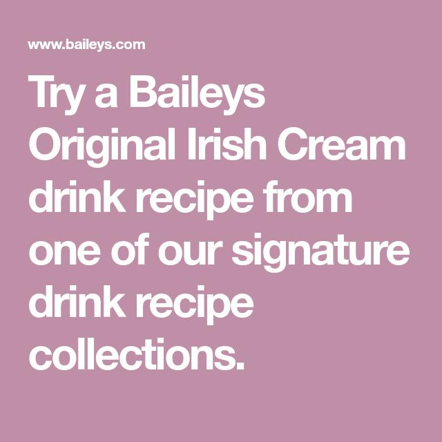 Try A Baileys Original Irish Cream Drink Recipe From One