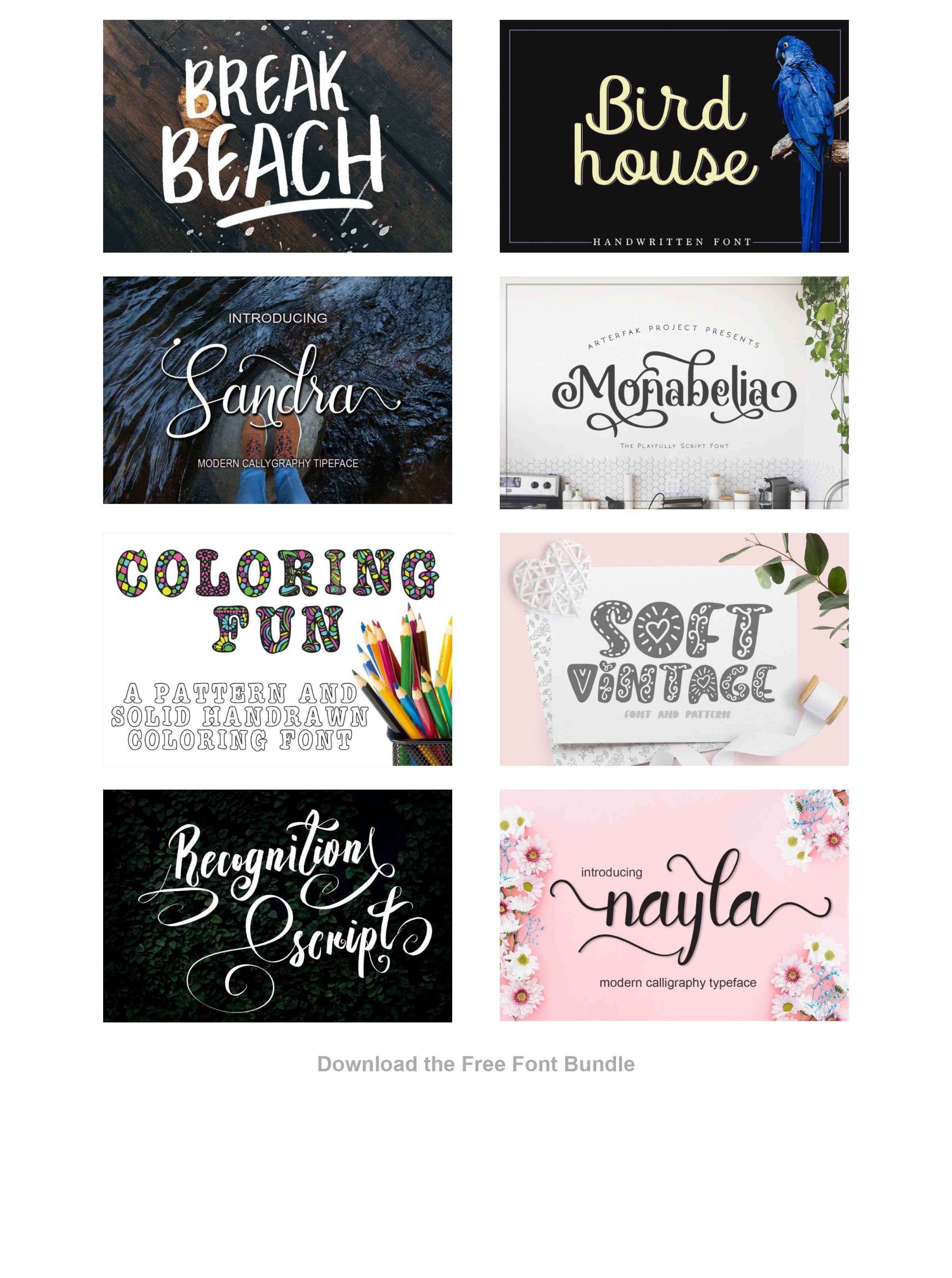 Download The Free Font Bundle (Bundle) · Creative Fabrica | Font ...
