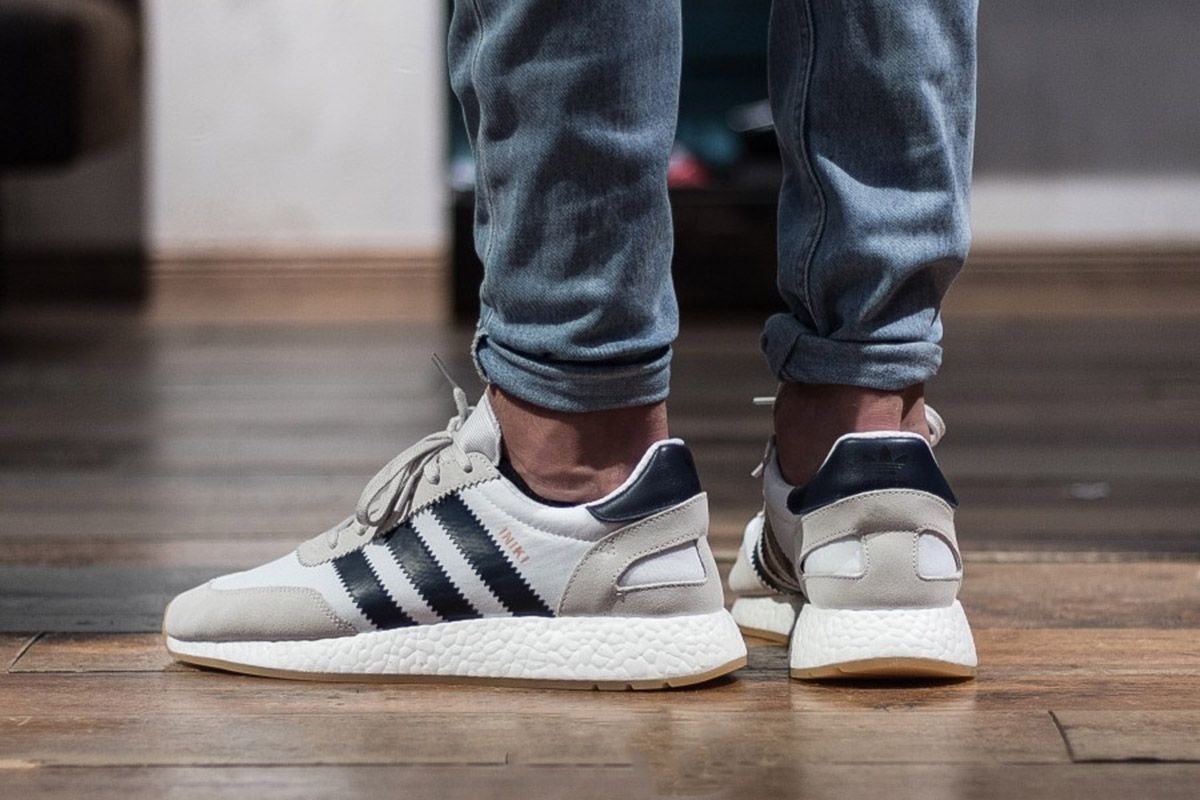 ef7d19a8ee6 Screaming retro, this is the new adidas Iniki Runner White/Collegiate Navy.  The Iniki Runner is a new take on a silhouette released during the 70s.