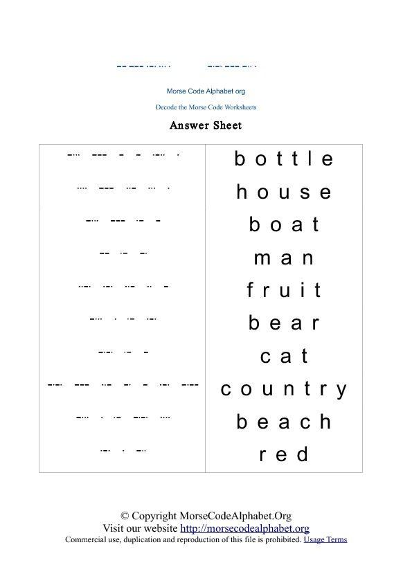 Morse Code Decode Quiz  Educating Little People