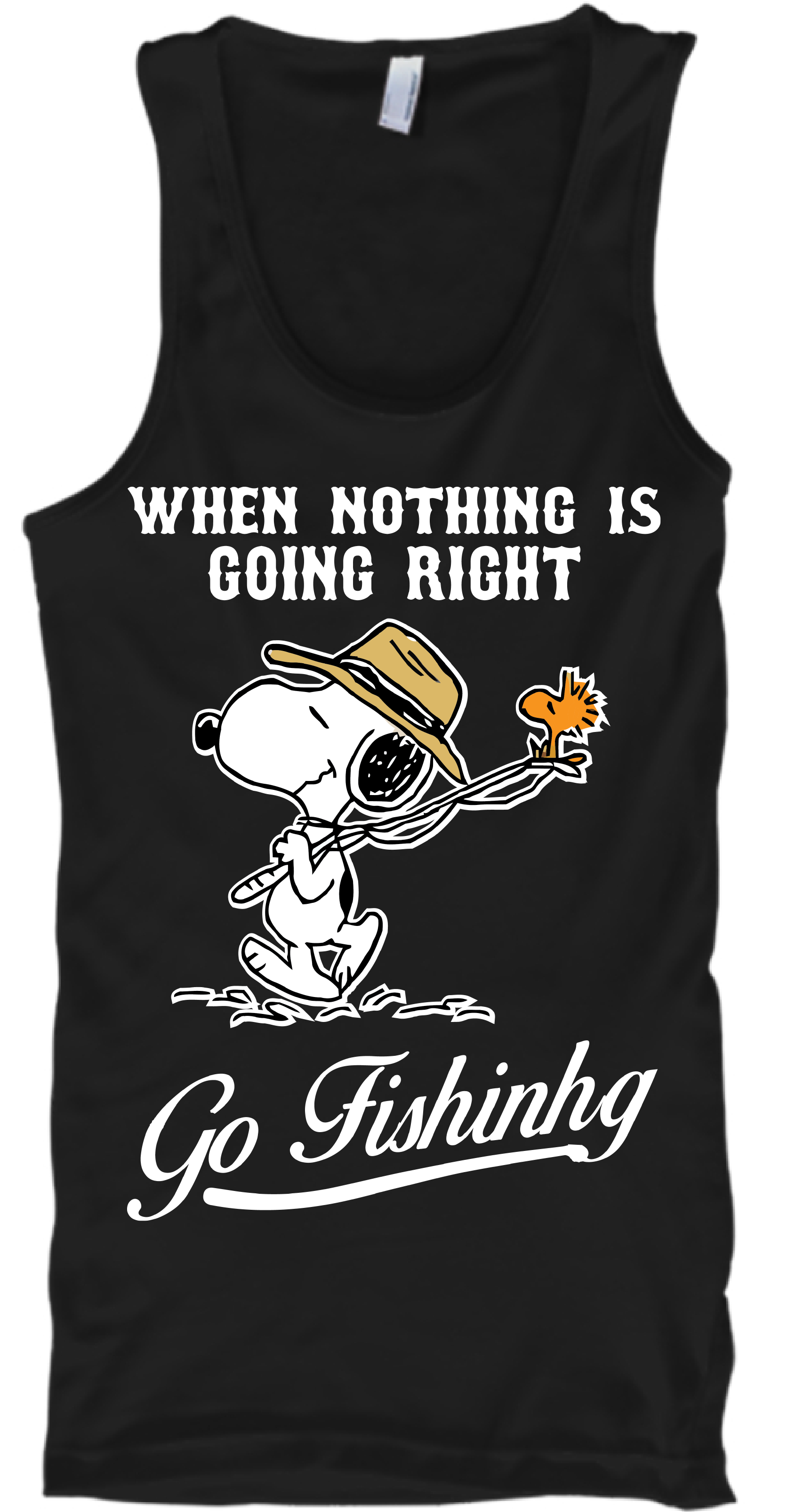 Mens tank top funny bass fishing design sleeveless tee shirt