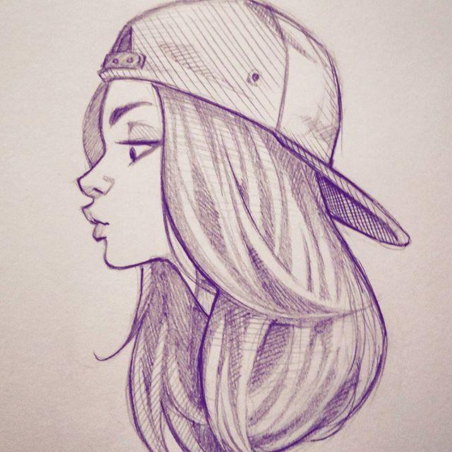 drawings of teen girls