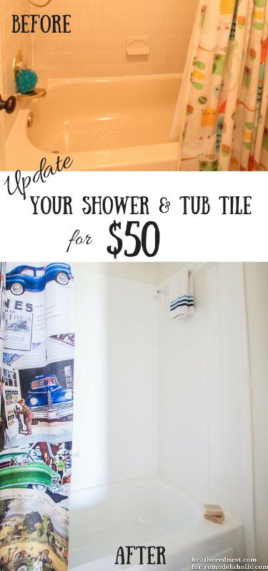 diy tub and tile reglazing project lighten and brighten your bath for about 50 in one weekend. Black Bedroom Furniture Sets. Home Design Ideas