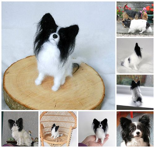 needle felted papillion
