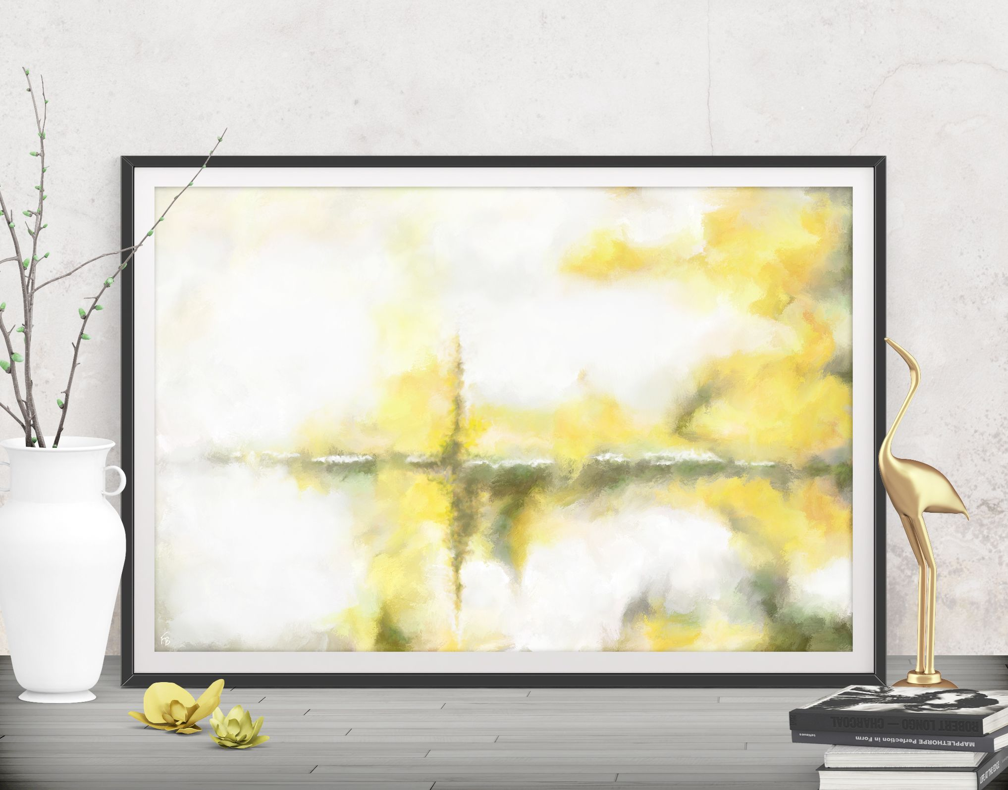 Printable yellow art, Bedroom wall art, Large download poster ...