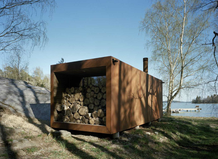 sauna container home