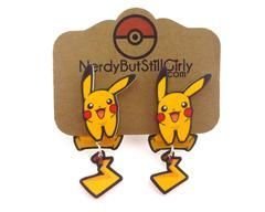 Pikachu (Happy) Cling Earrings