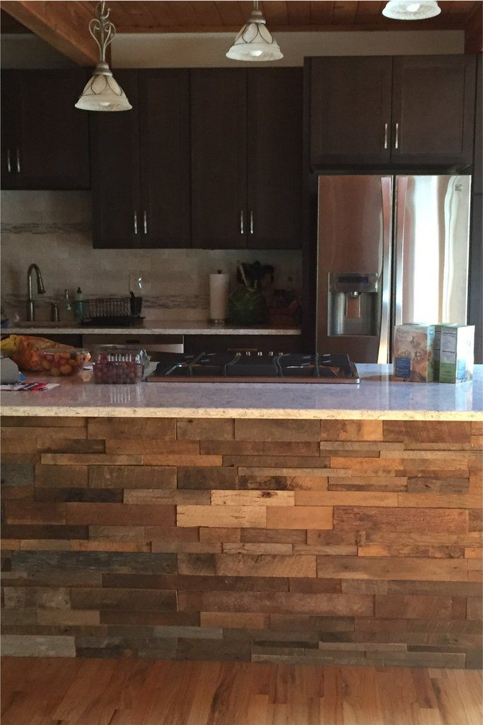 Kitchens With Wood Paneling: 15sf Reclaimed Barn Wood Stacked Wall Panels