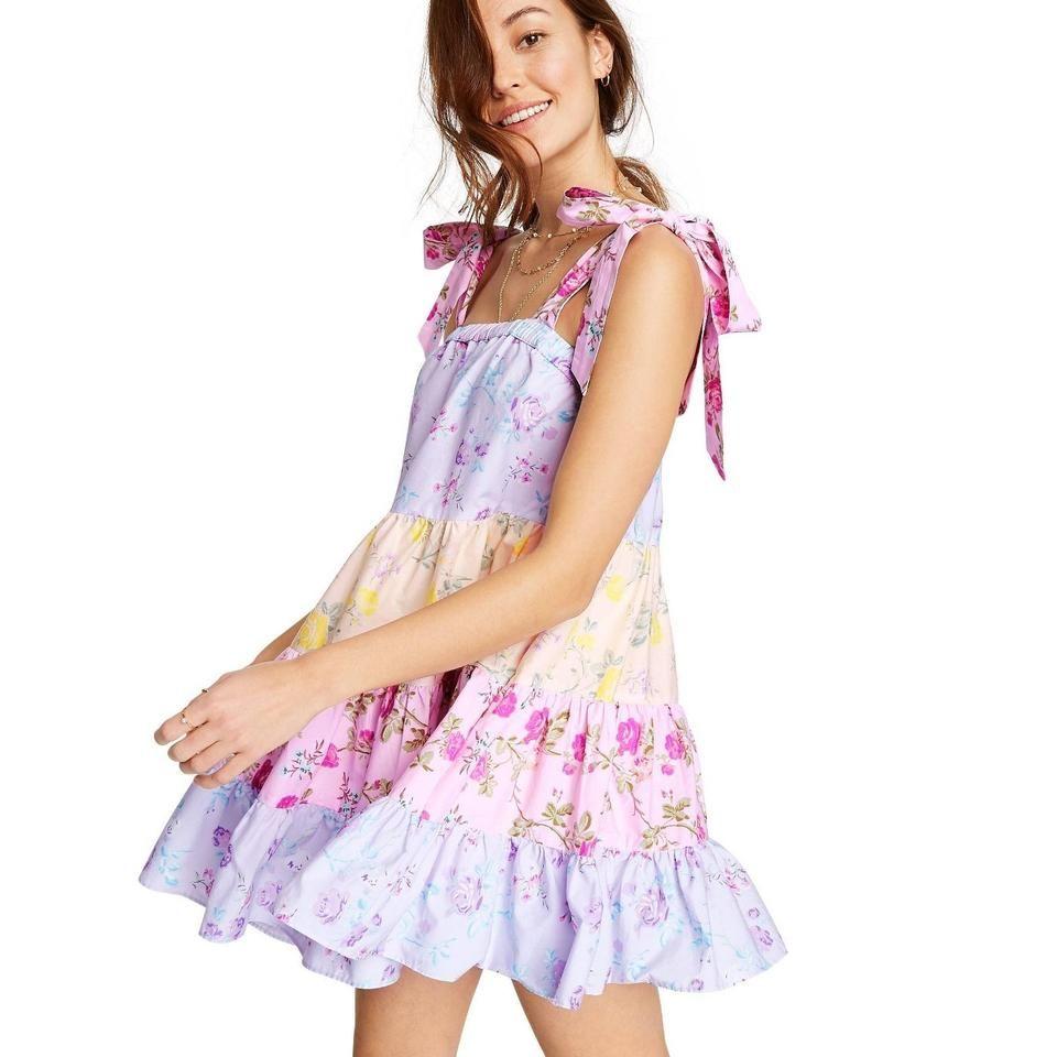 Loveshackfancy Pink Target Limited Edition Lavender Jeanne Tie Strap Tiered Short Casual Dress Size 2 Xs In 2021 Tiered Dress Short Dresses Casual Dresses [ 960 x 960 Pixel ]