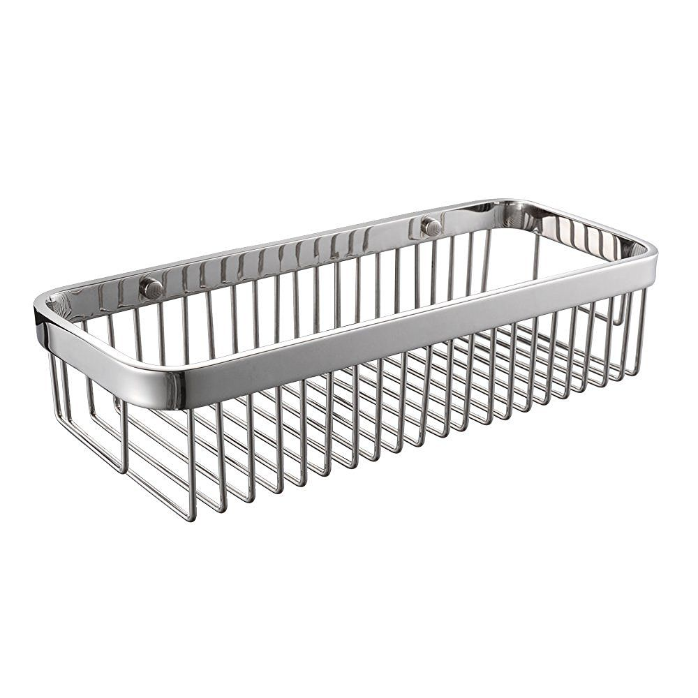 304 Stainless Steel Shower Caddy Bath Basket Storage Shelf Hanging ...