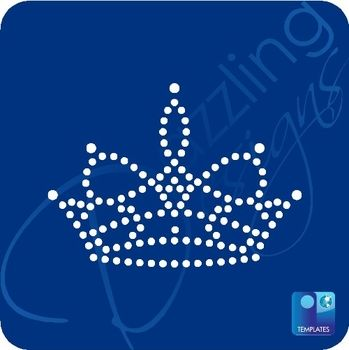 Tiara Rhinestone Template T-020984 Crown \ Tiara Sticky Flock - crown template