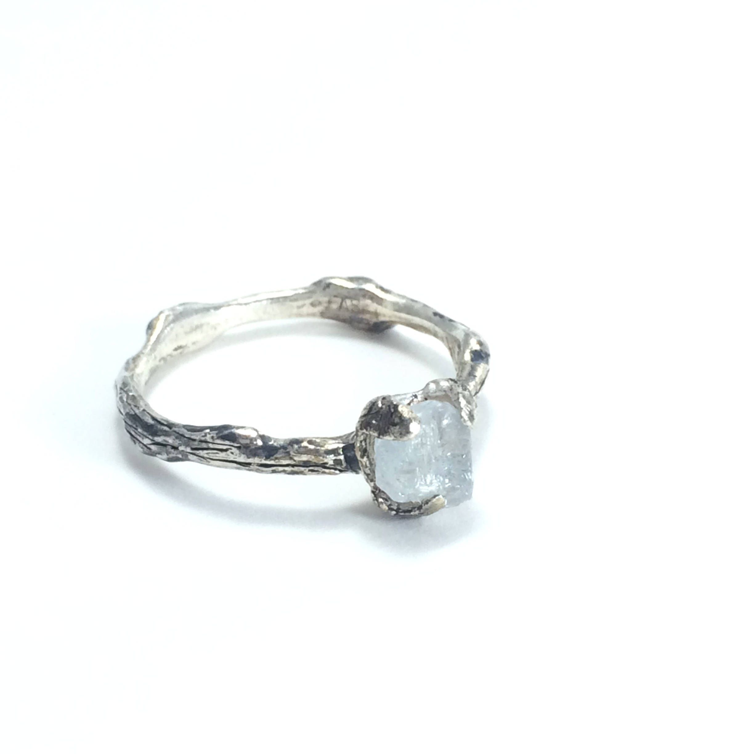 twig engagement ring nature engagement ring raw stone