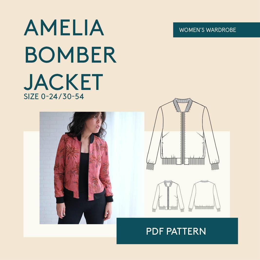 Bomber Jacket Sewing Pattern Jacket Pattern Sewing Patterned Bomber Jacket Bomber Jacket Women [ 1067 x 1067 Pixel ]