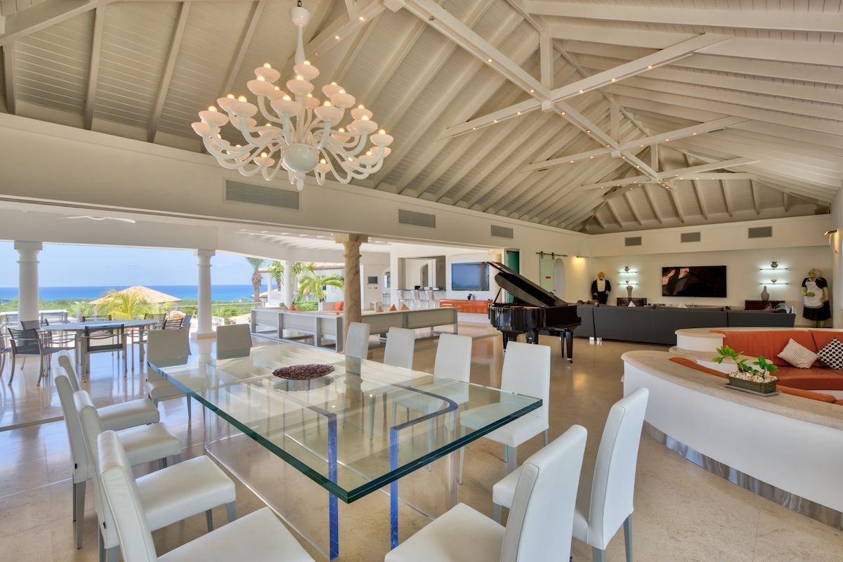 Open plan and ultra luxe living dining area at Sandyline ...