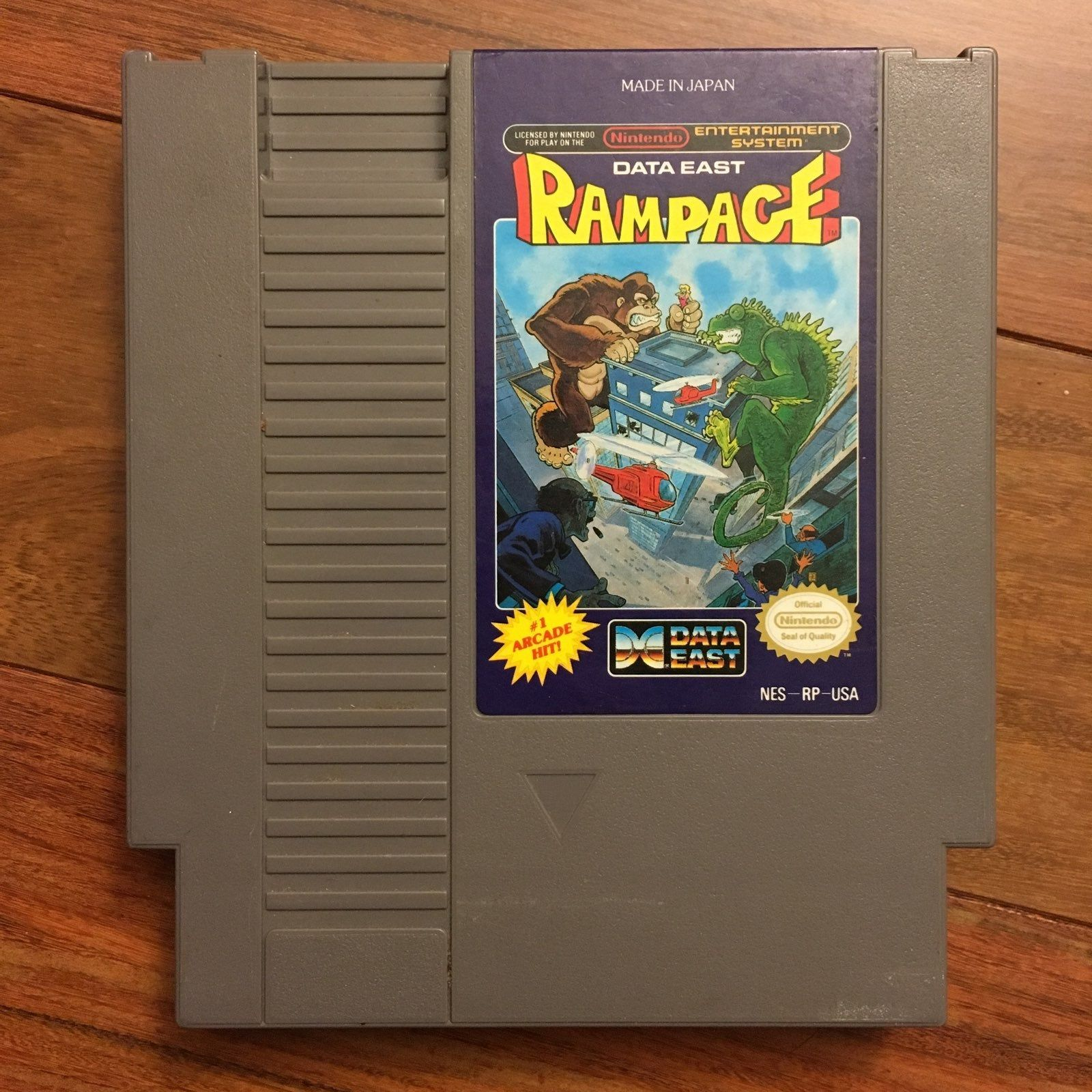 Vintage Nes Authentic Nintendo Rampage Game Cartridge Tested In