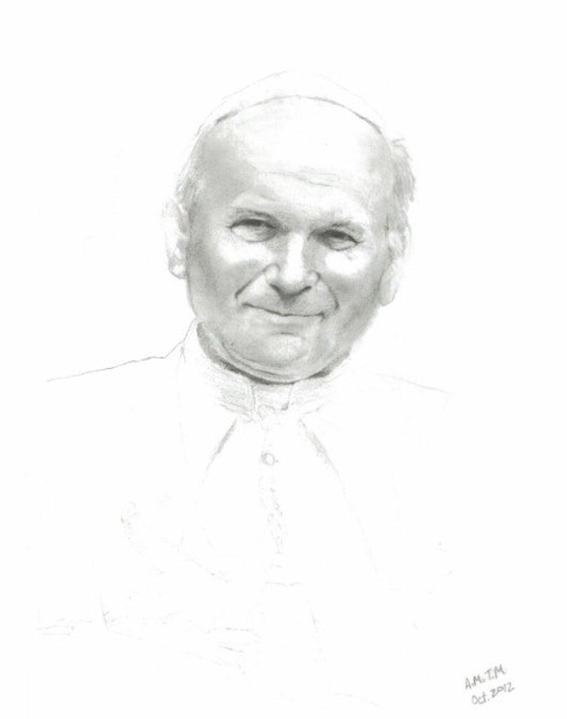 Papa San Juan Pablo Ii Multiples Tamanos Catolicos Arte Etsy San Juan Pablo Ii Artistas Juan Pablo Ii