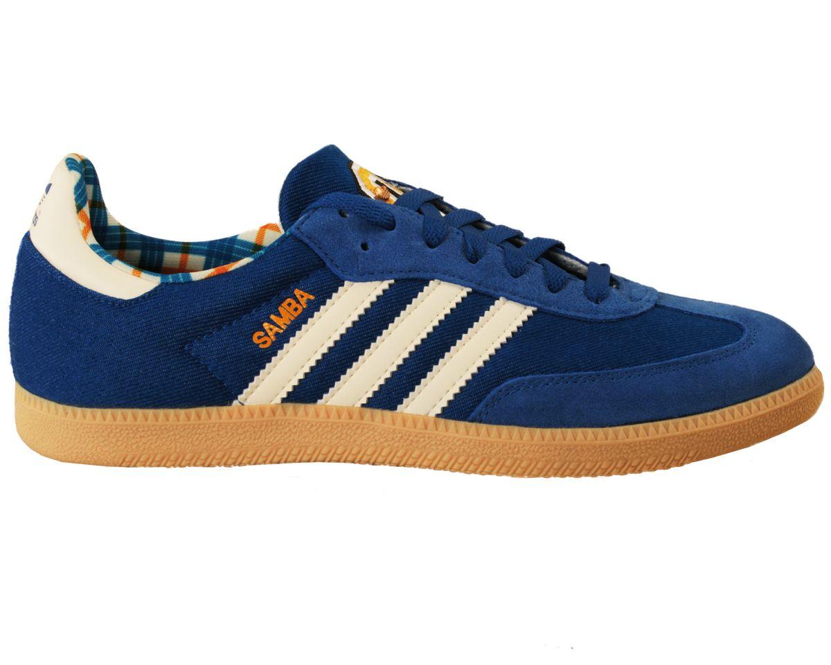 adidas samba yellow blue