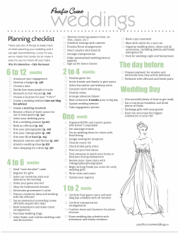 Wedding Planning Checklist | Pacific Coast Weddings