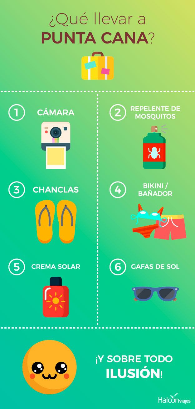 Qué Llevar En La Maleta En Tu Viaje A Punta Cana Tips Infografia Viajar Puntacana Caribbean Punta Cana Guia De Viaje Viajes