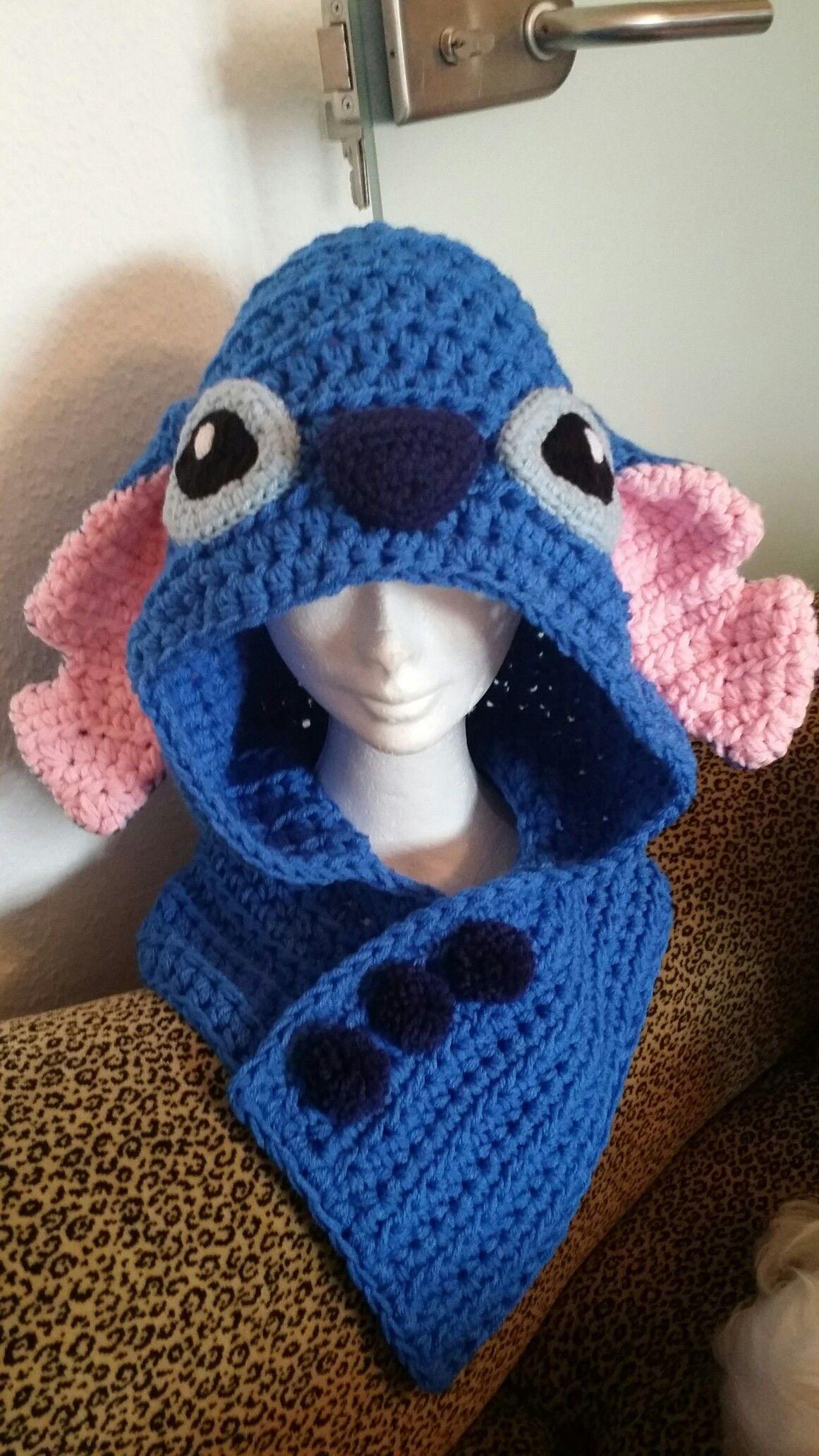 Crochet Stitch hoodie Bufanda En Telar 7b3ba4515d3