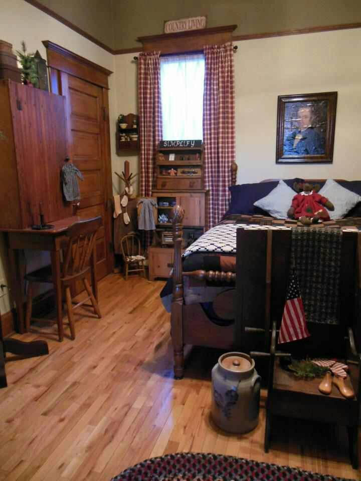 Primitive Country Decorating Ideas Primitive Bedroom Country