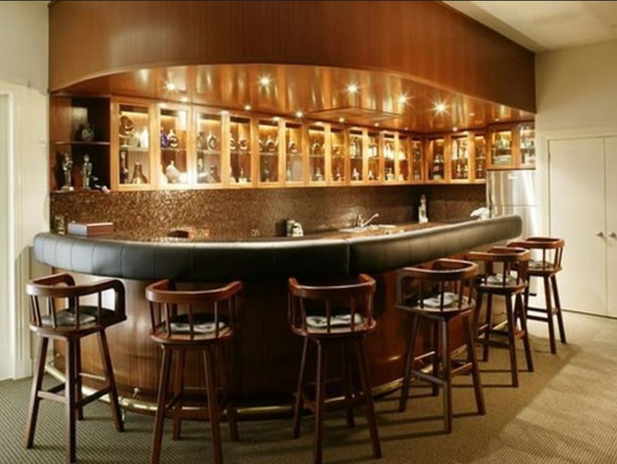 Basement Bar Idea Rounded At The End Basement Ideas