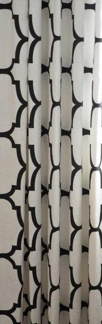 Curtain Panels Black White Curtains