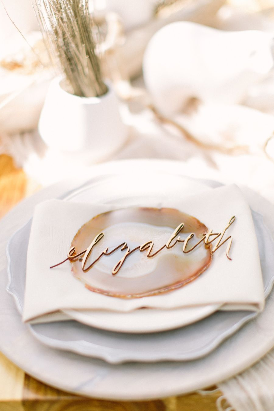Photography : Alicia Pyne Photography | Photography : Mustard Seed Photography | Calligraphy : Bella Grafia Read More on SMP: http://www.stylemepretty.com/2015/10/12/10-pretty-things-we-love-about-bella-grafia/