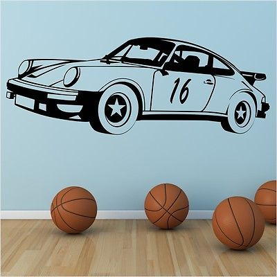 Racing car formula one sports bedroom boys sticker kids wall art stickers car