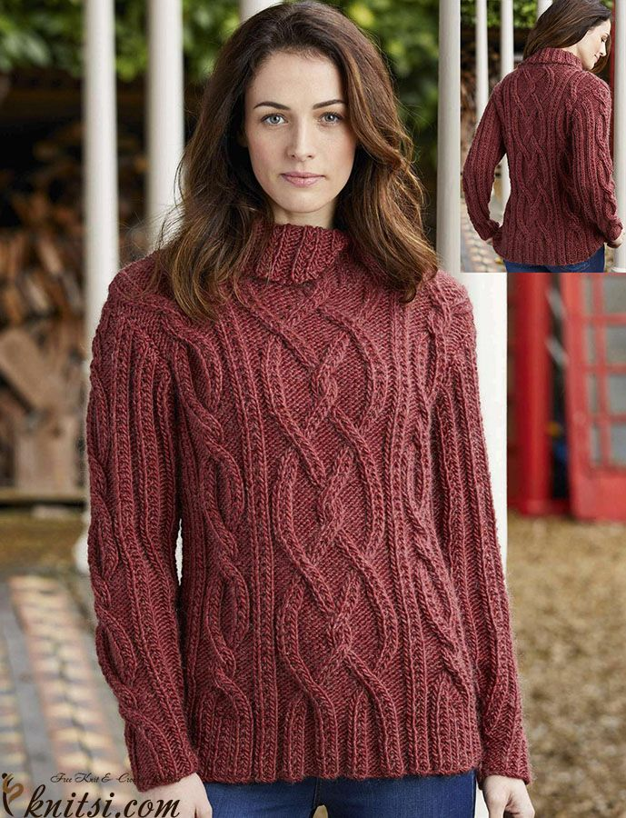 Jumper Knitting Pattern Free Knitsiknitting Pullovers348 Cable