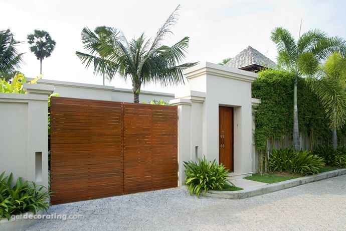 Cercos para patio, ideas para cercos, muros, diseño de paredes - diseo de exteriores