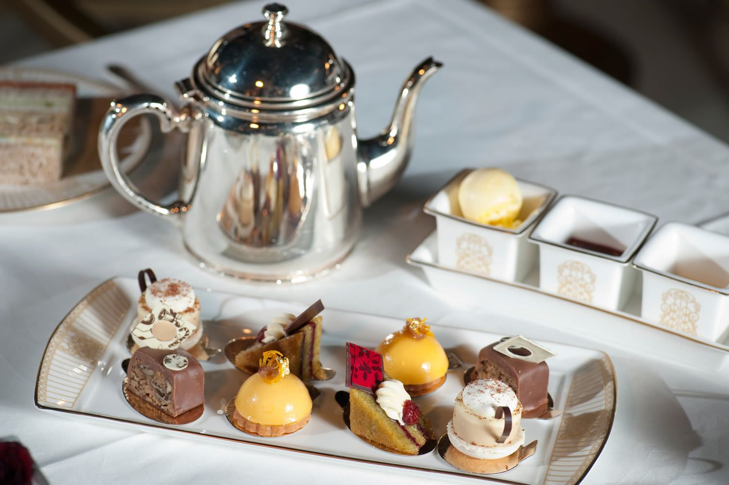 afternoon tea in the winter garden at the landmark london