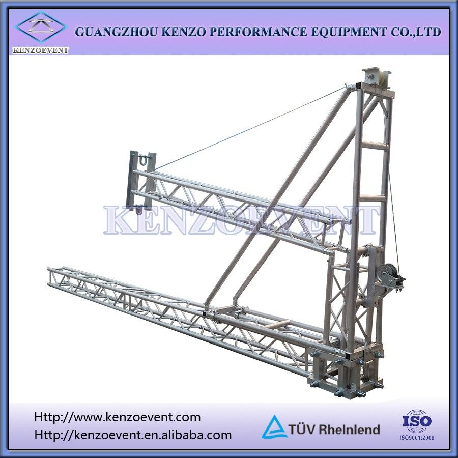 Aluminum lifting truss lighting tower truss tower crane for Where to buy trusses
