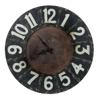Cooper Classics Oversized 23 5 Balencia Wall Clock Wall Clock Oversized Wall Clock Wood Wall Clock